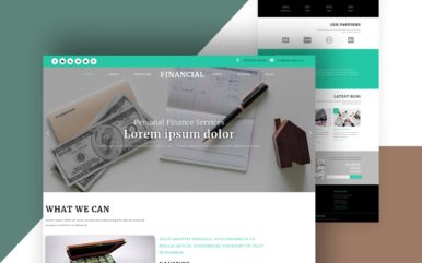 Financial Banking Category Bootstrap Responsive Web Template