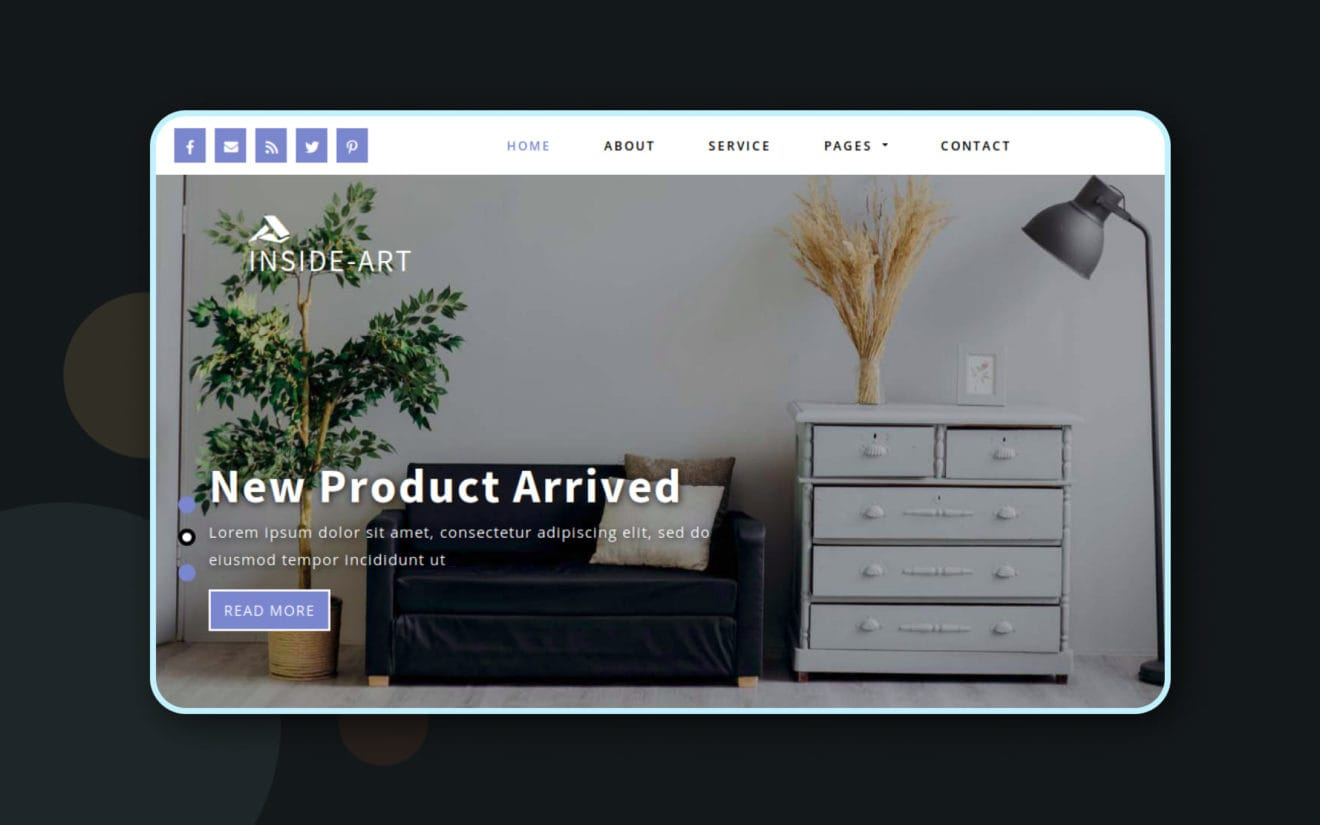 Inside-Art a Blogging Category Bootstrap responsive Web Template