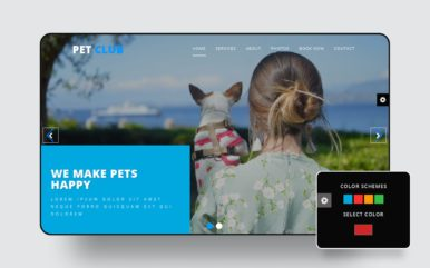 Pet Club Animals Category Bootstrap Responsive Web Template.