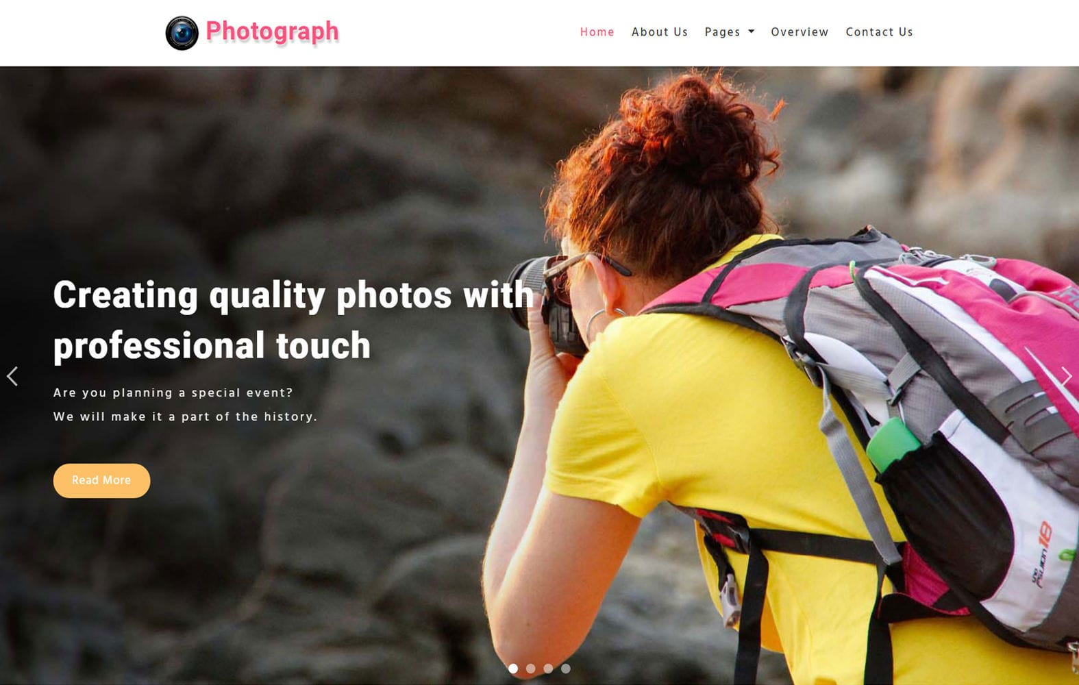 Photograph – Photography Category Bootstrap Responsive Web Template