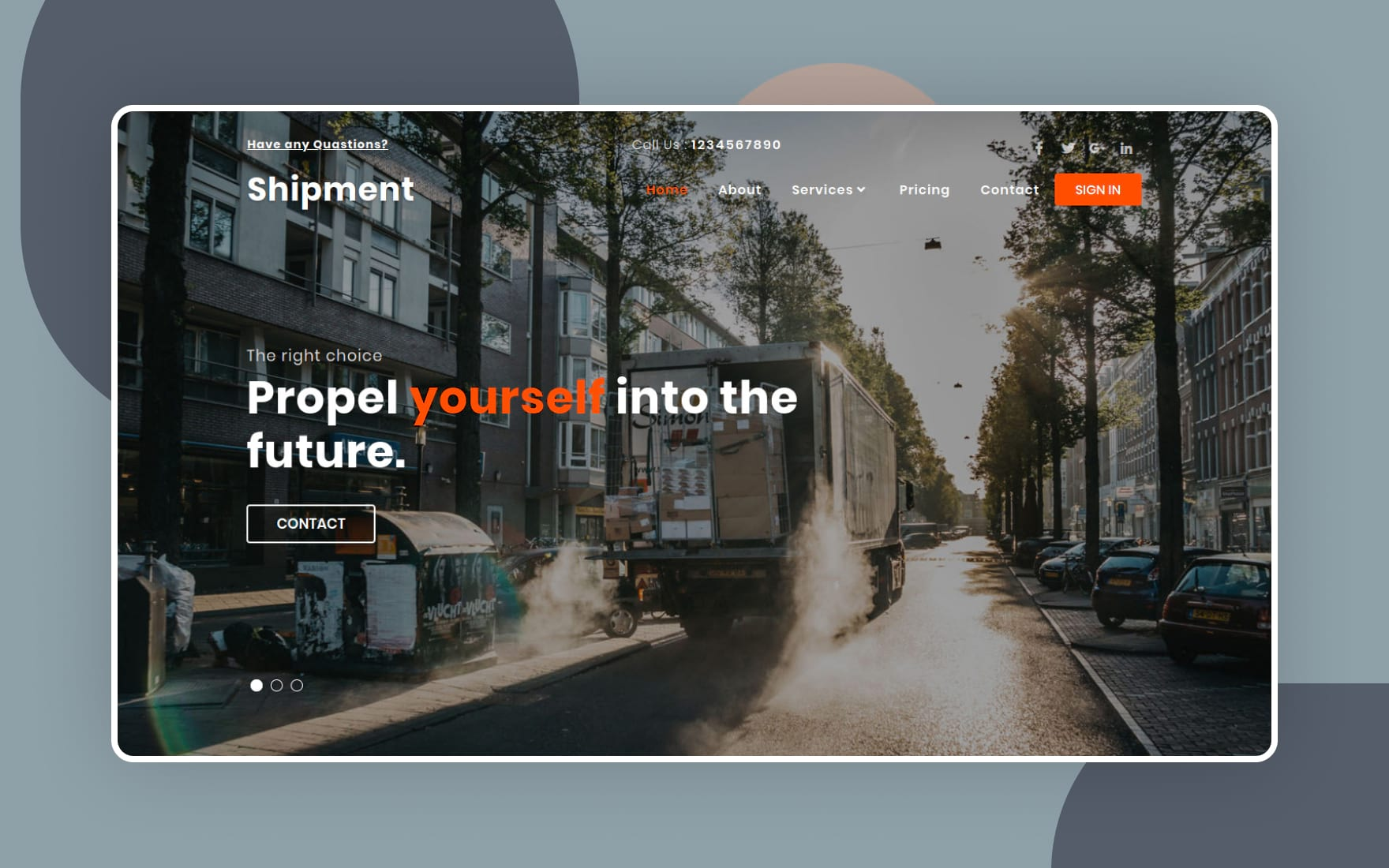 shipment website template