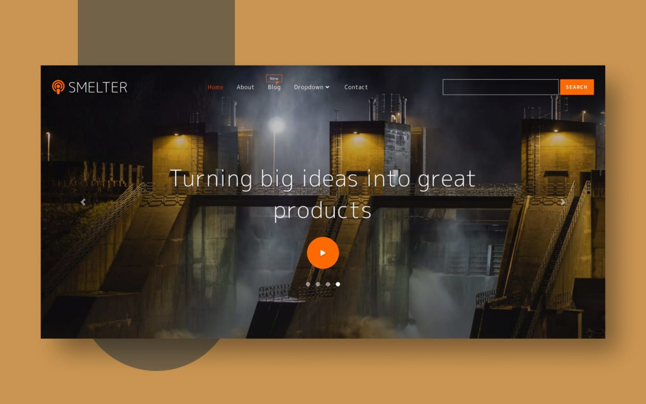 Smelter Industrial Category Bootstrap Responsive Web Template