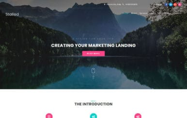 Stalled Business Category Bootstrap Responsive Web Template.