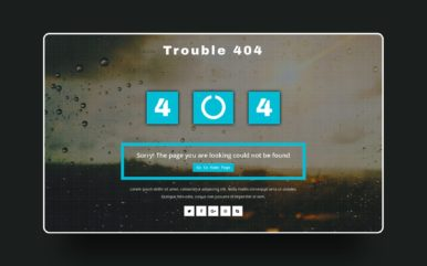Trouble 404 Error Page Responsive Widget Template