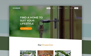 vicarage website template