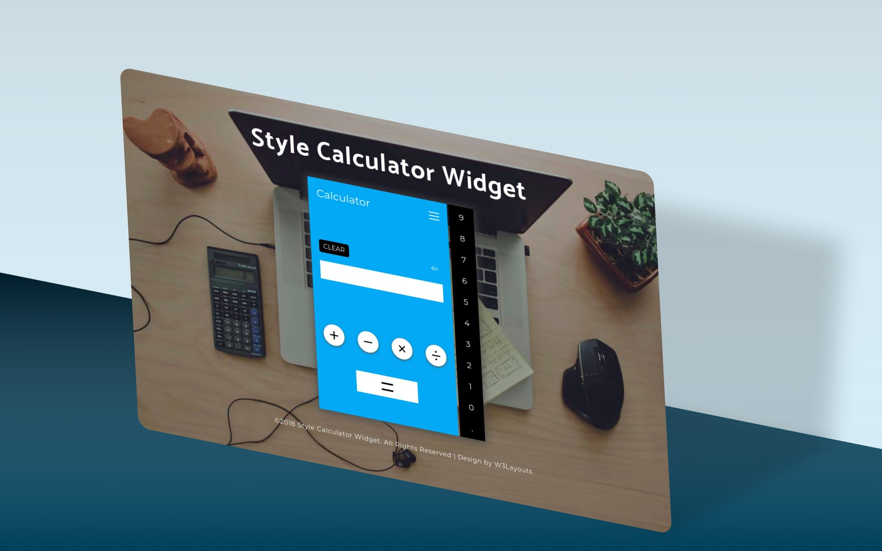 Style Calculator Widget a Flat Responsive Design