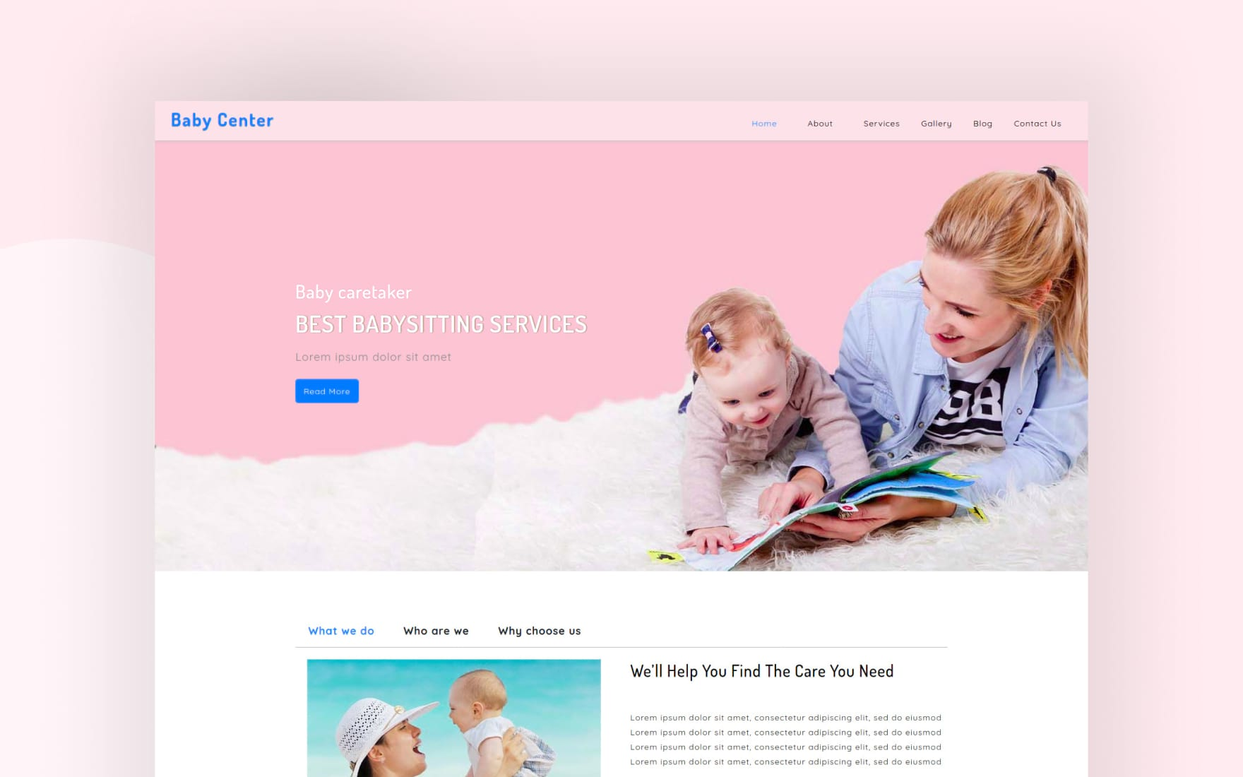Baby Center – Society Category Bootstrap Responsive Web Template