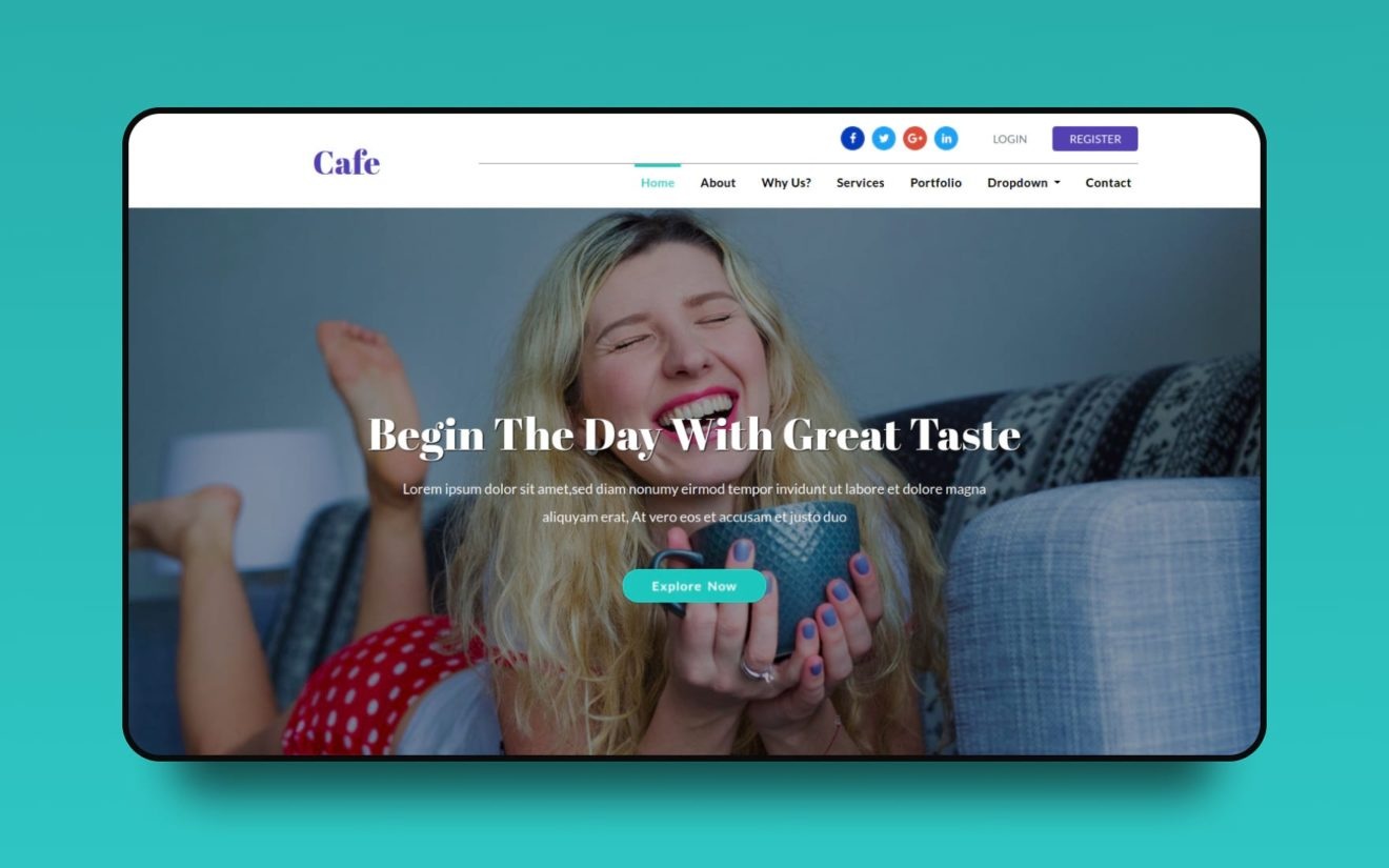 Cafe a Restaurant Category Flat Bootstrap Responsive Web Template