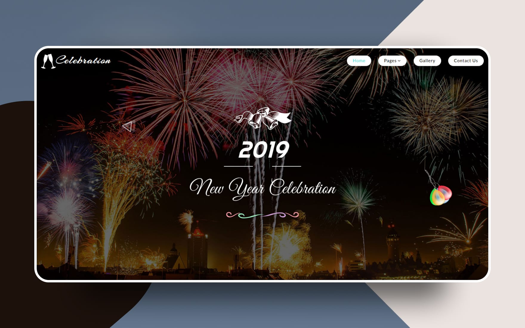 Celebration an Entertainment Category Bootstrap Responsive Web Template
