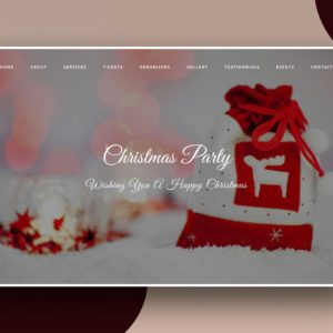 christmas party website template