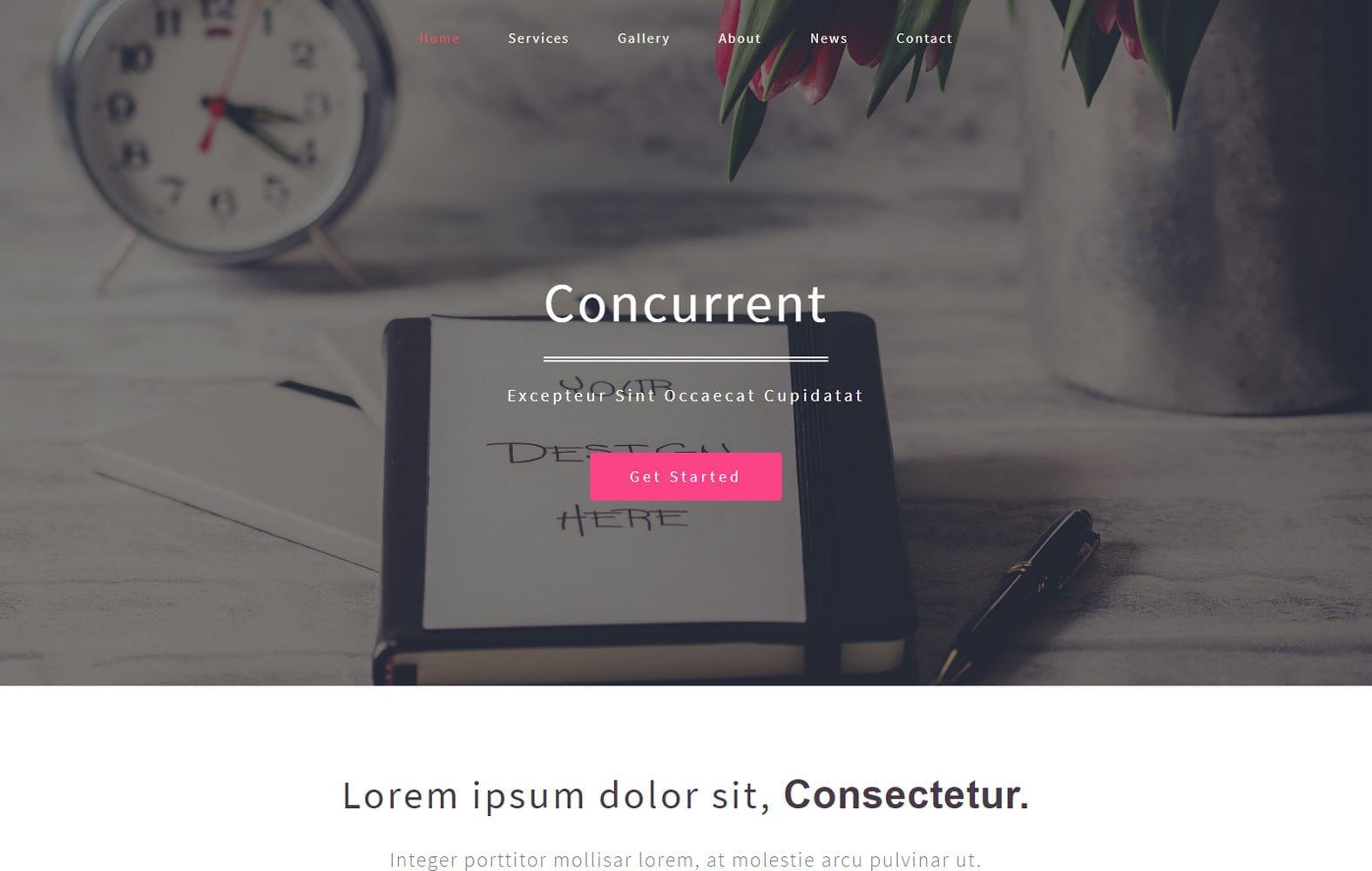 Concurrent a Corporate Category Bootstrap Responsive Web Template