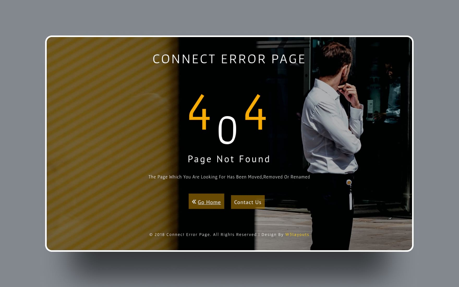 Connect Error Page Responsive Widget Template