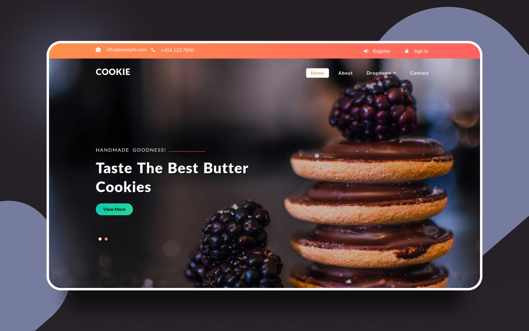 Cookie – Restaurant Category Flat Bootstrap Responsive Web Template