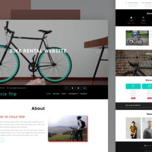 cycle trip website template