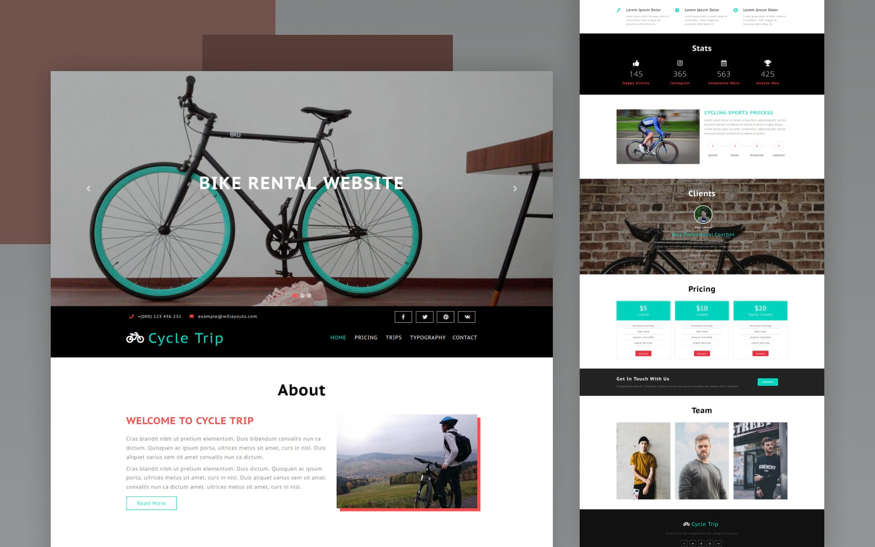 Cycle Trip – Sports Category Bootstrap Responsive Web Template