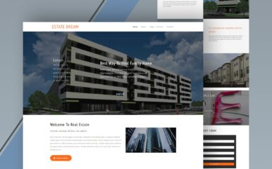 estate dream website template