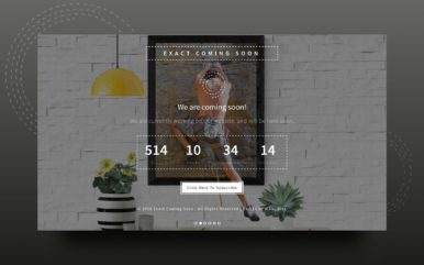 Exact Coming Soon Responsive Widget Template
