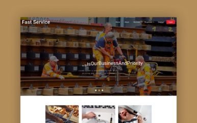 fast service website template