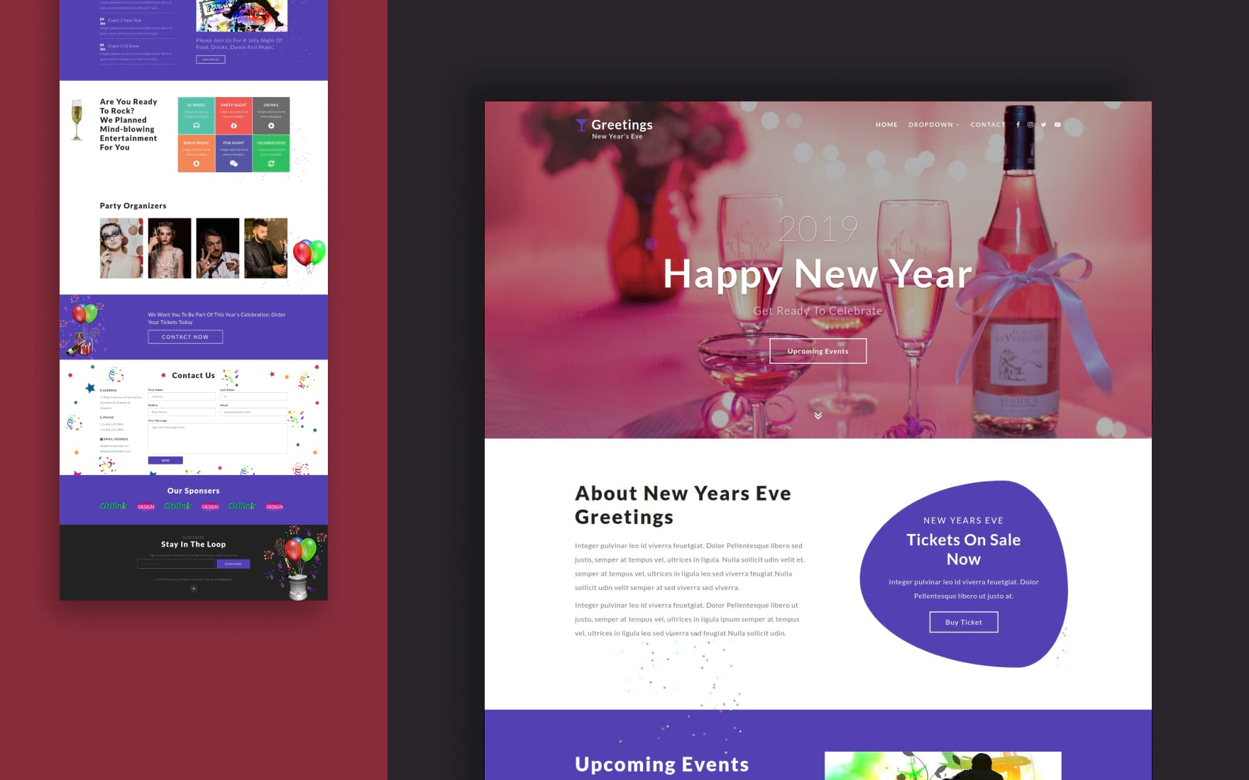 Greetings an Entertainment Category Bootstrap Responsive Web Template
