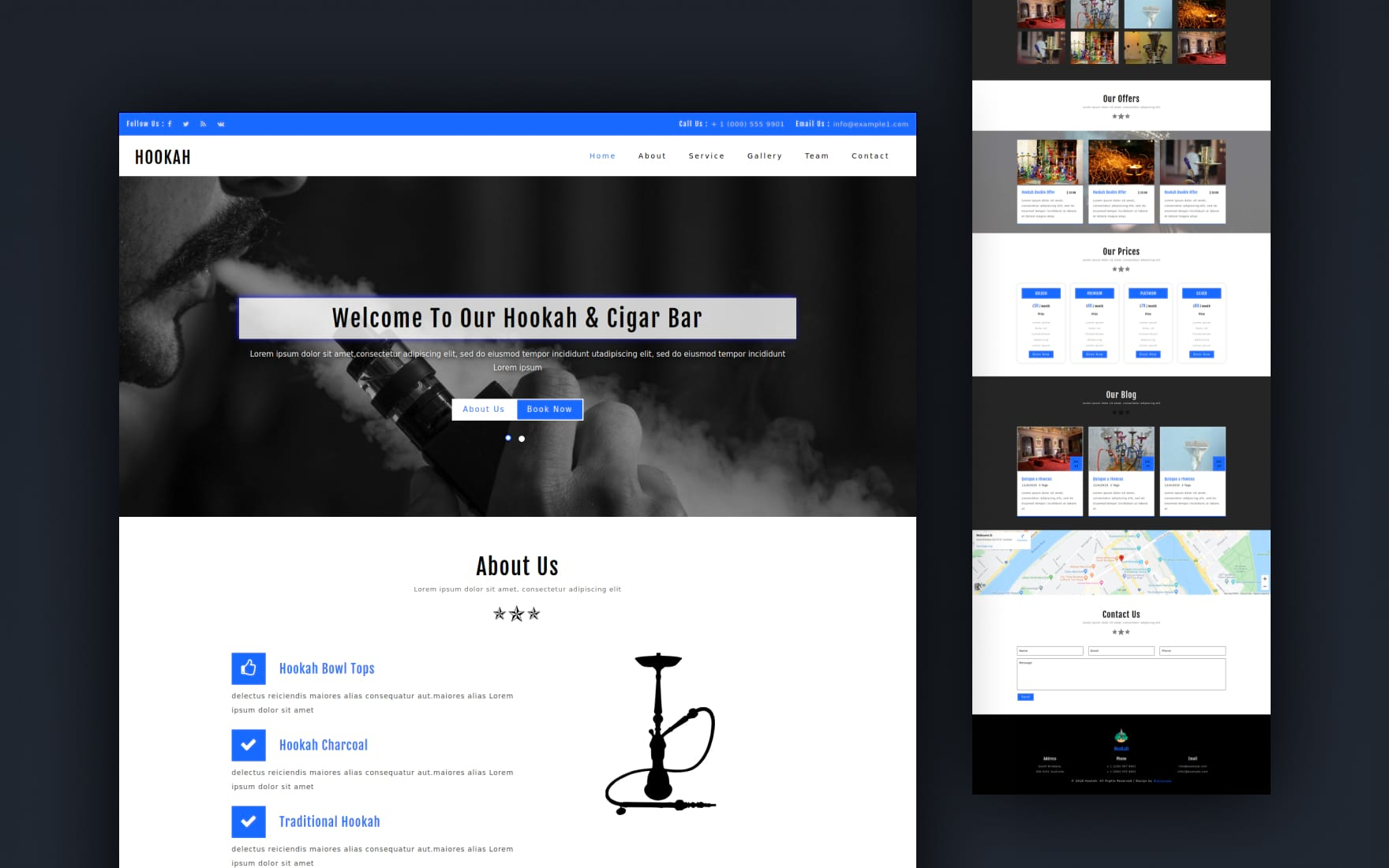 Hookah an Entertainment Category Bootstrap Responsive web Template