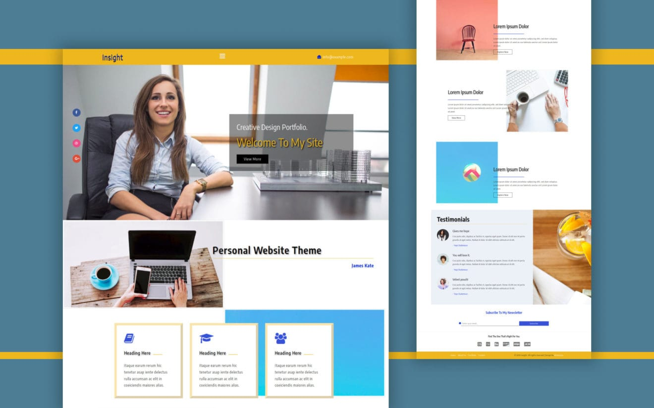 Insight a Personal Category Bootstrap Responsive Web Template