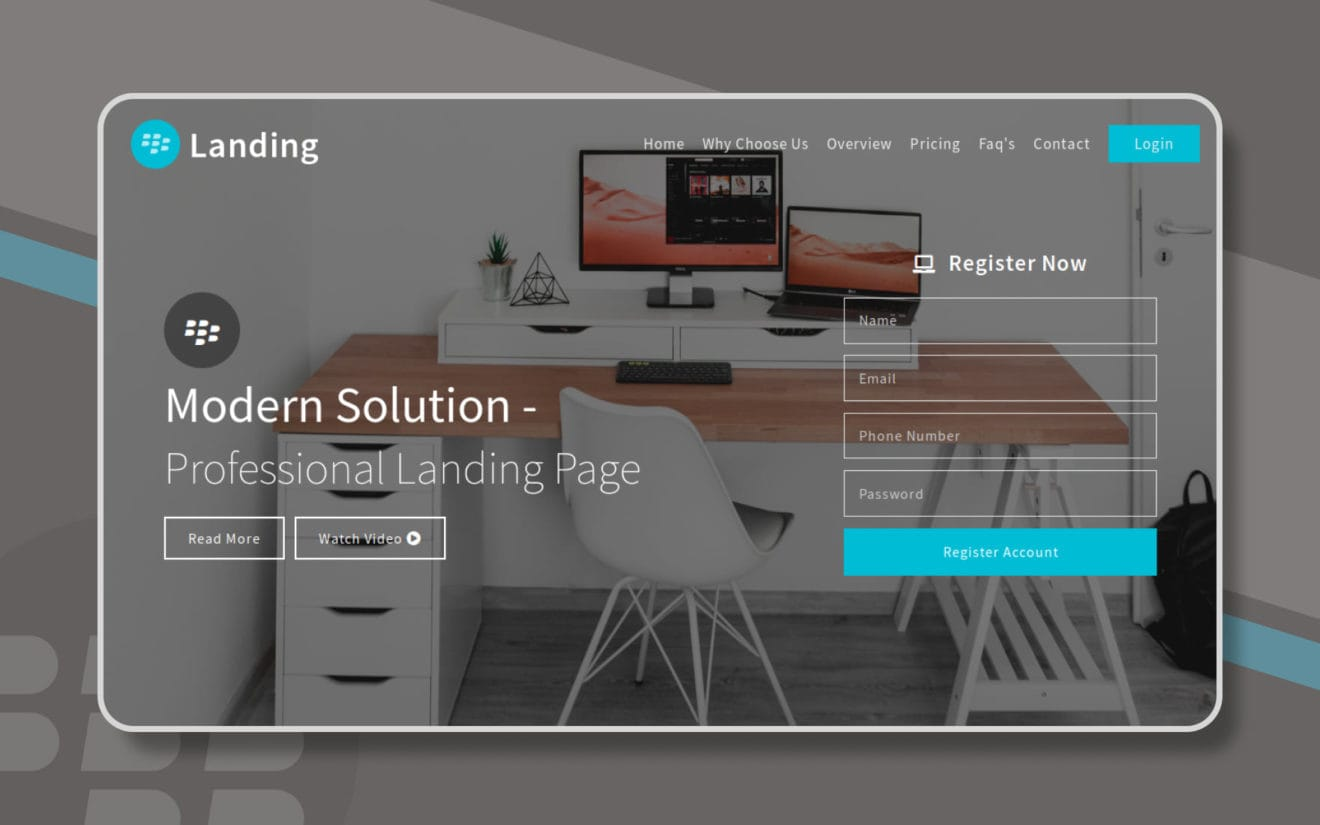 Landing Landing Page Category Bootstrap Responsive Web Template.