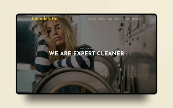 launderette website template