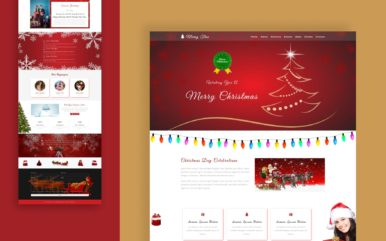 merry tree website template