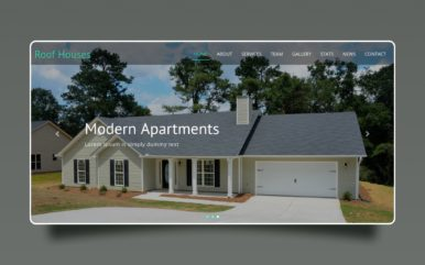 Roof house a Real Estate Category Bootstrap Responsive Web Template