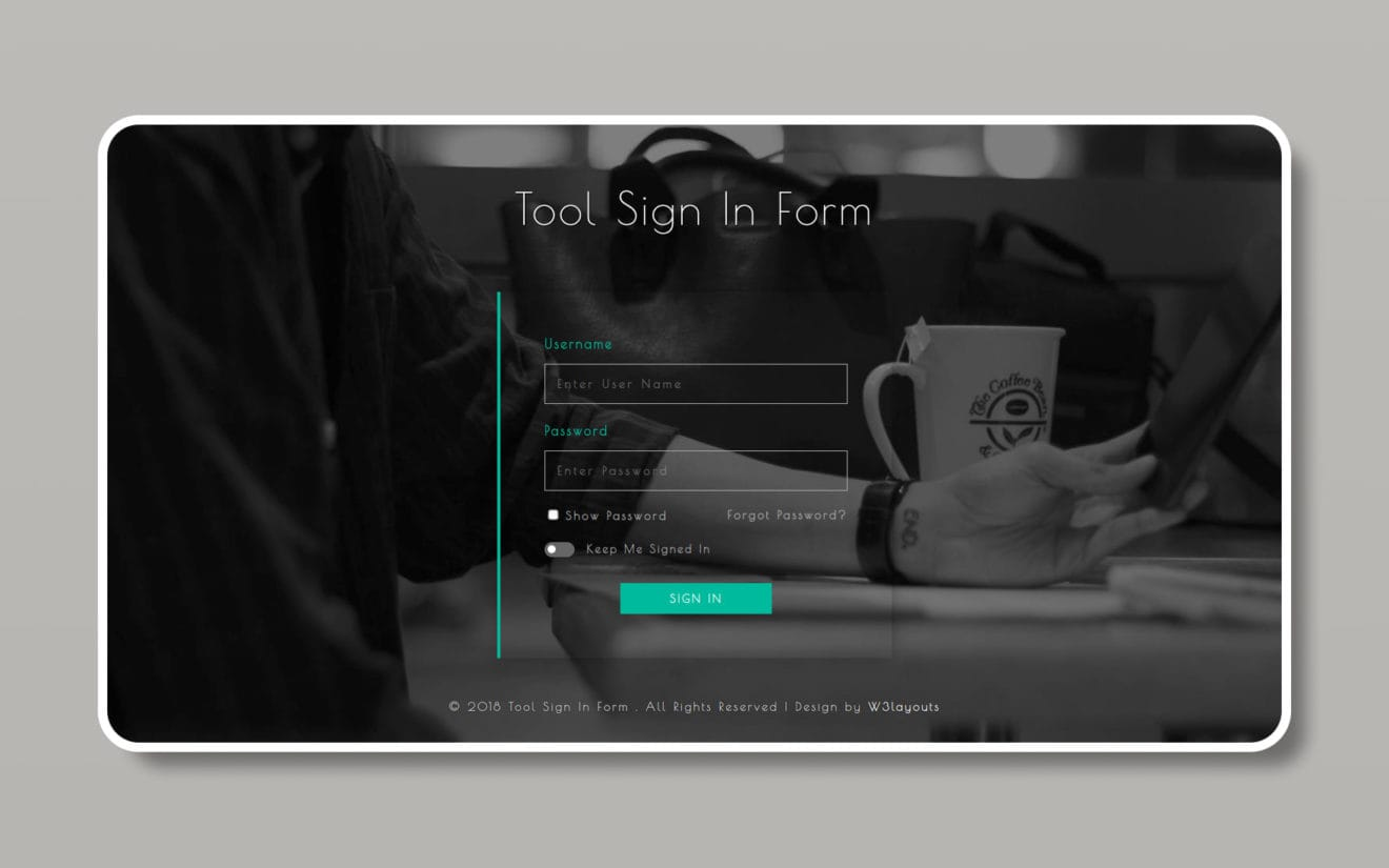 Tool Sign in Form Flat Responsive Widget Template.