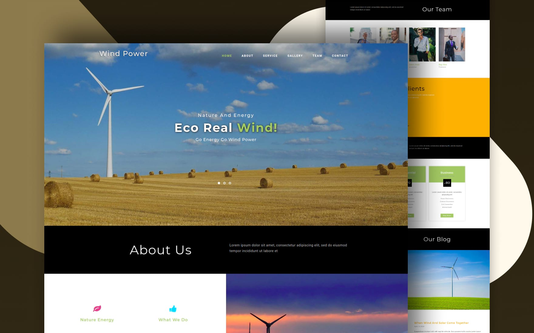 wind power website template
