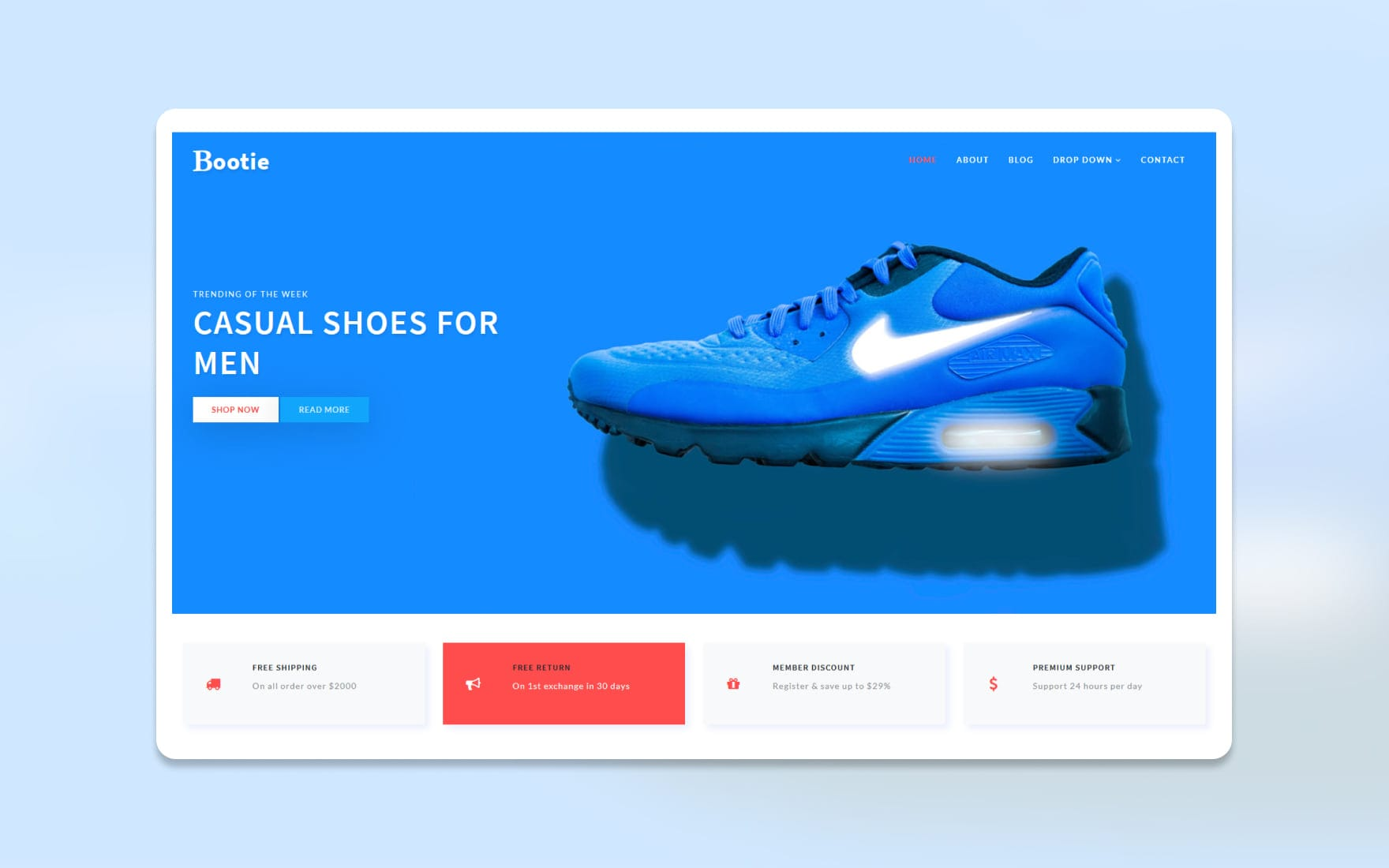Bootie E commerce Bootstrap Responsive Web Template