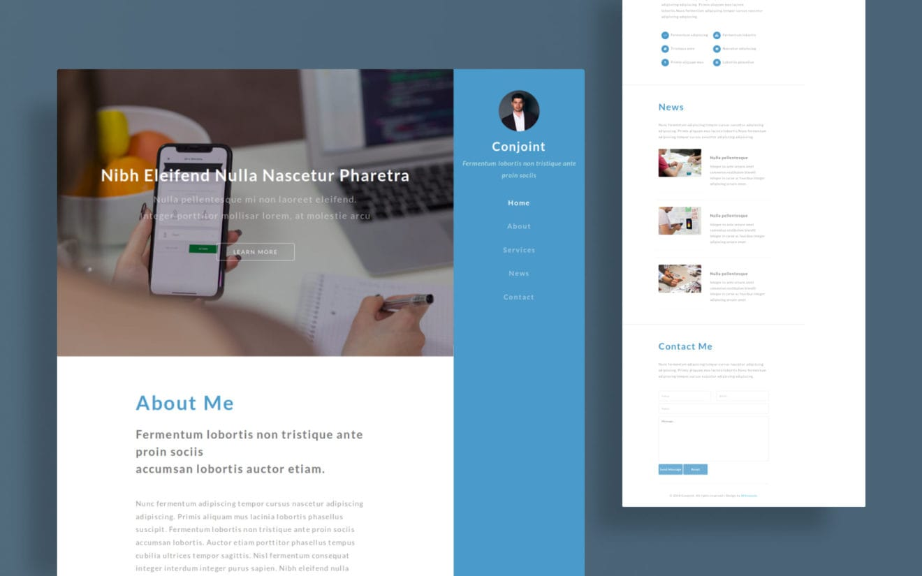 Conjoint a Personal Category Flat Bootstrap Responsive Web Template