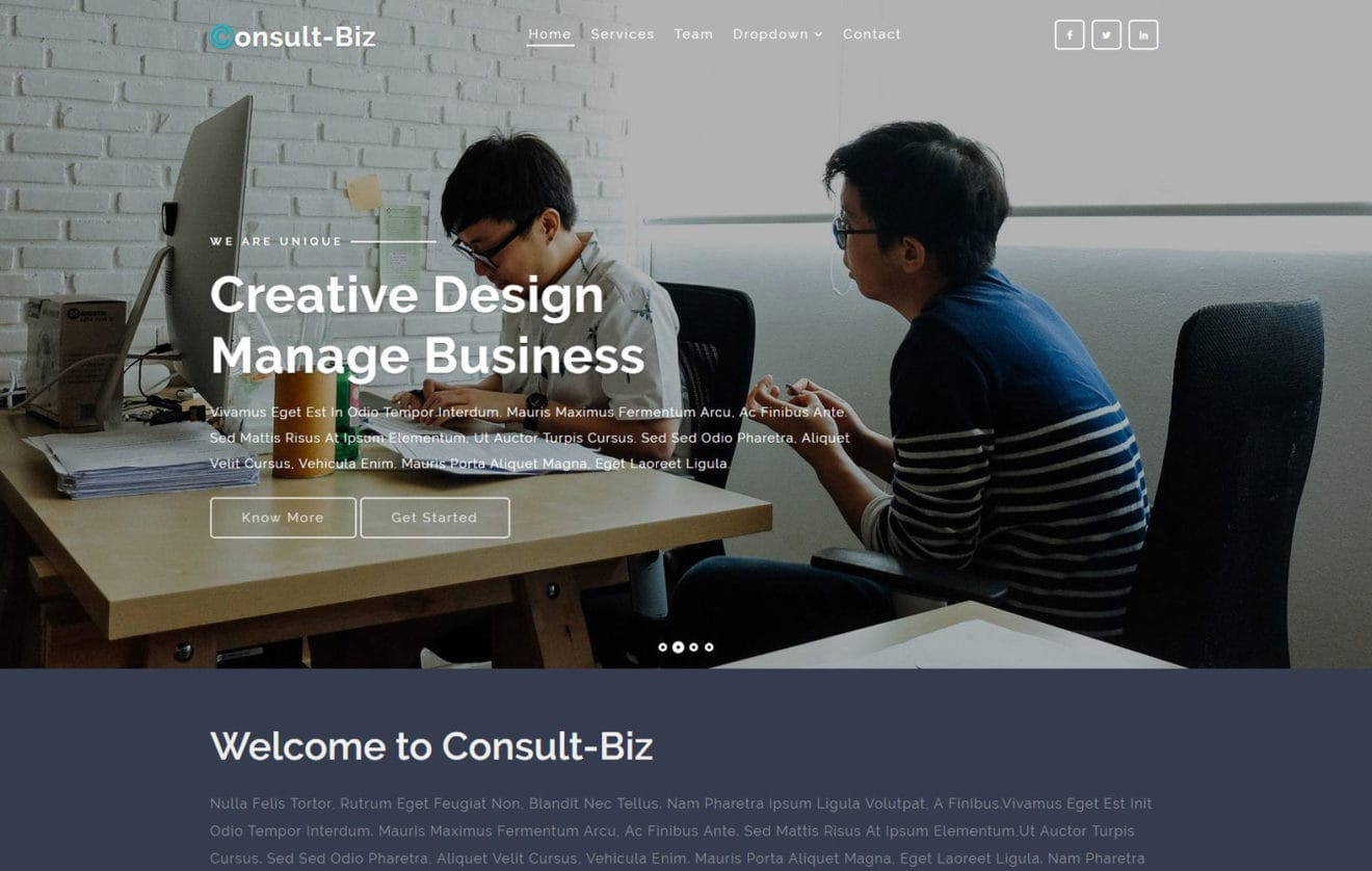 Consultbiz a Corporate Category Bootstrap Responsive Web Template