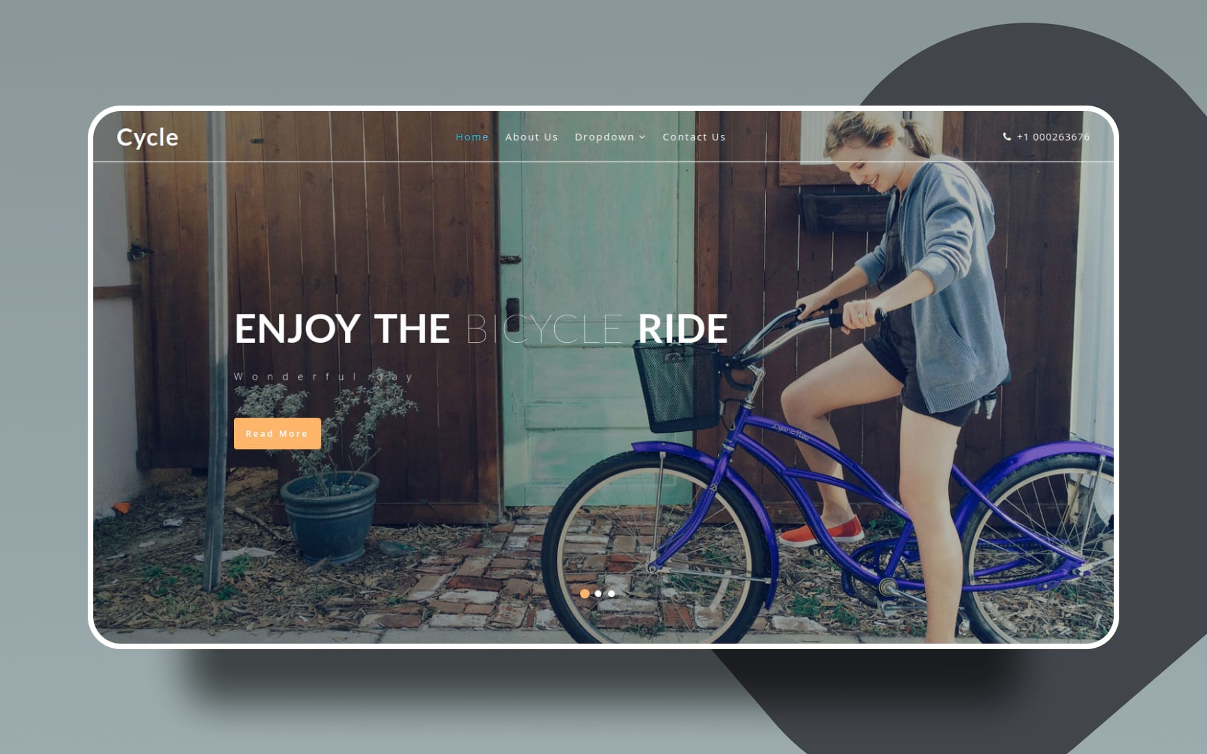 cycle website template
