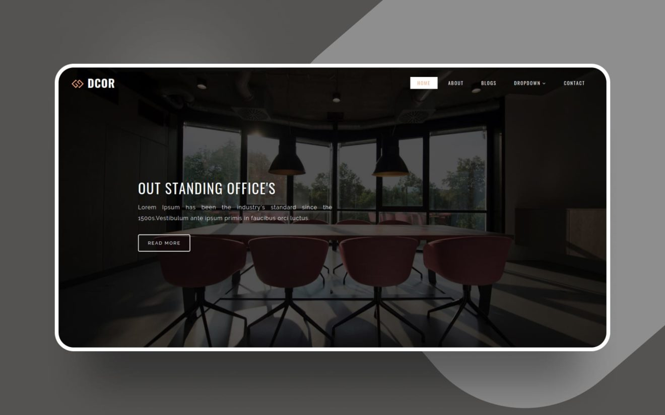 Dcor Interior Category Bootstrap Responsive Web Template