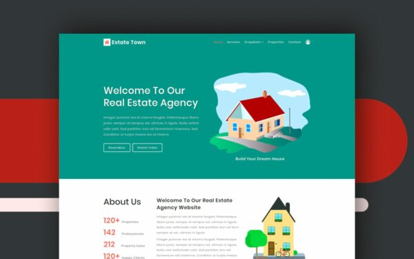 estate town website template