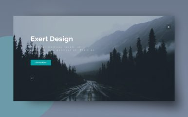 exert design website template
