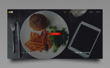 hamburger website template
