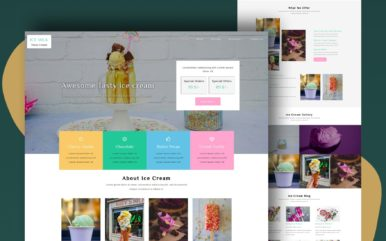 ice milk website template