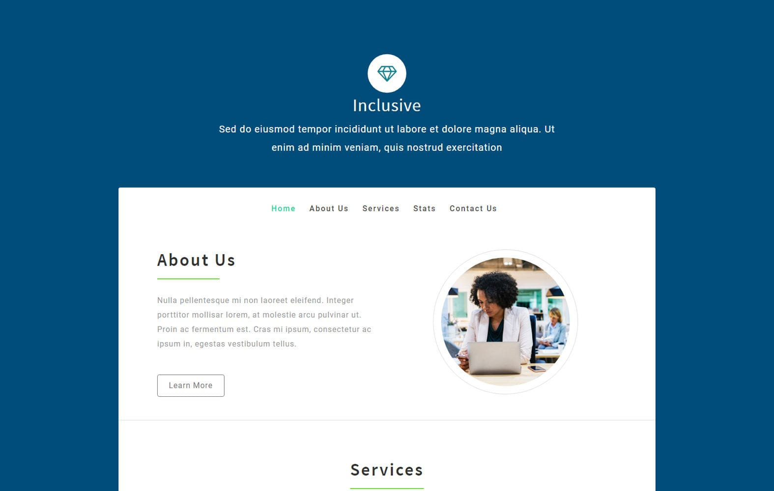 Inclusive a Corporate Category Bootstrap Responsive Web Template