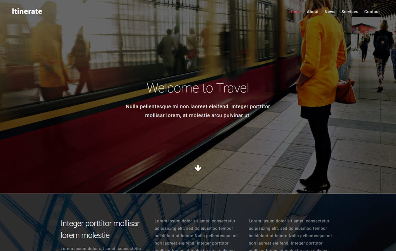 Itineration  a Landing Page Flat Bootstrap Responsive Web Template