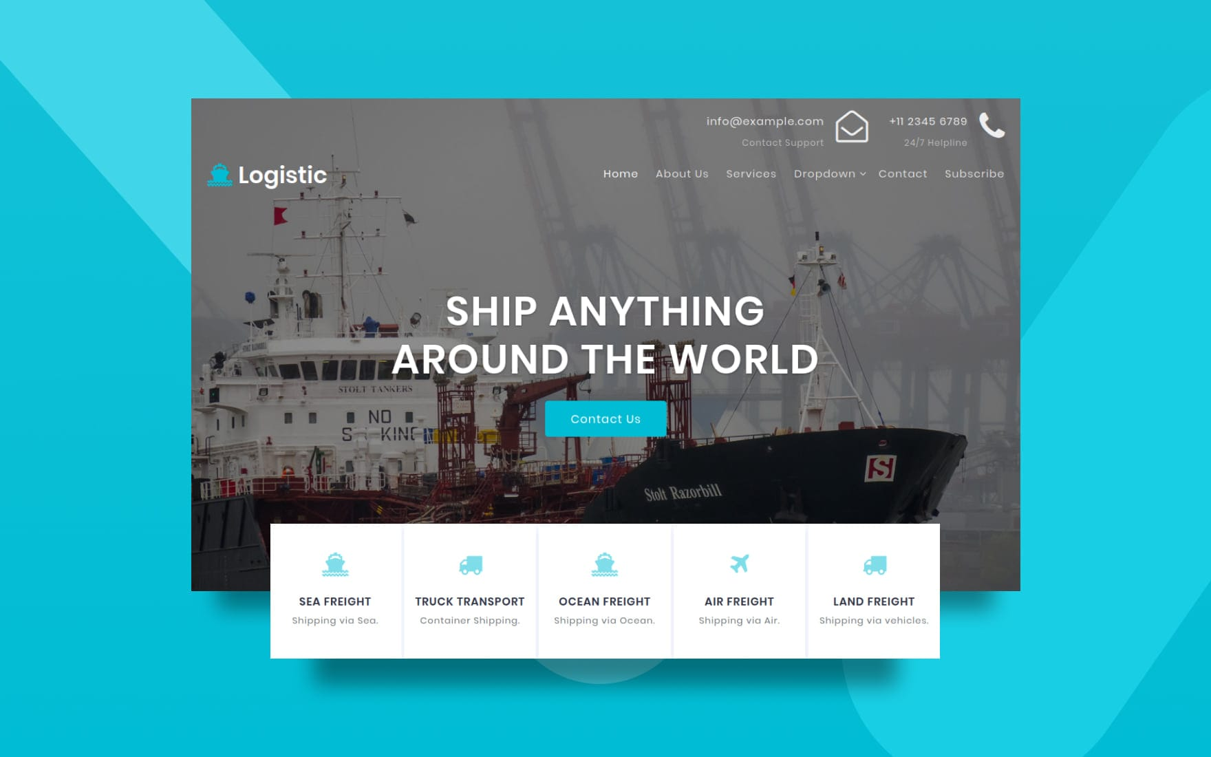 Logistic a Transport Category Bootstrap Responsive Web Template