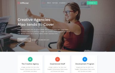 Official a Corporate Category Bootstrap Responsive Web Template