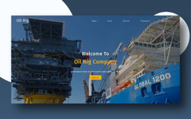 oil rig website template