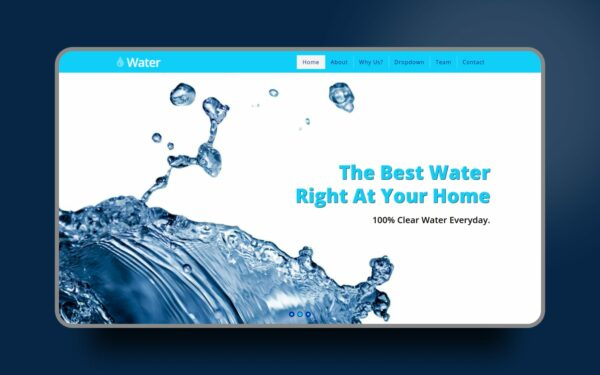 water website template