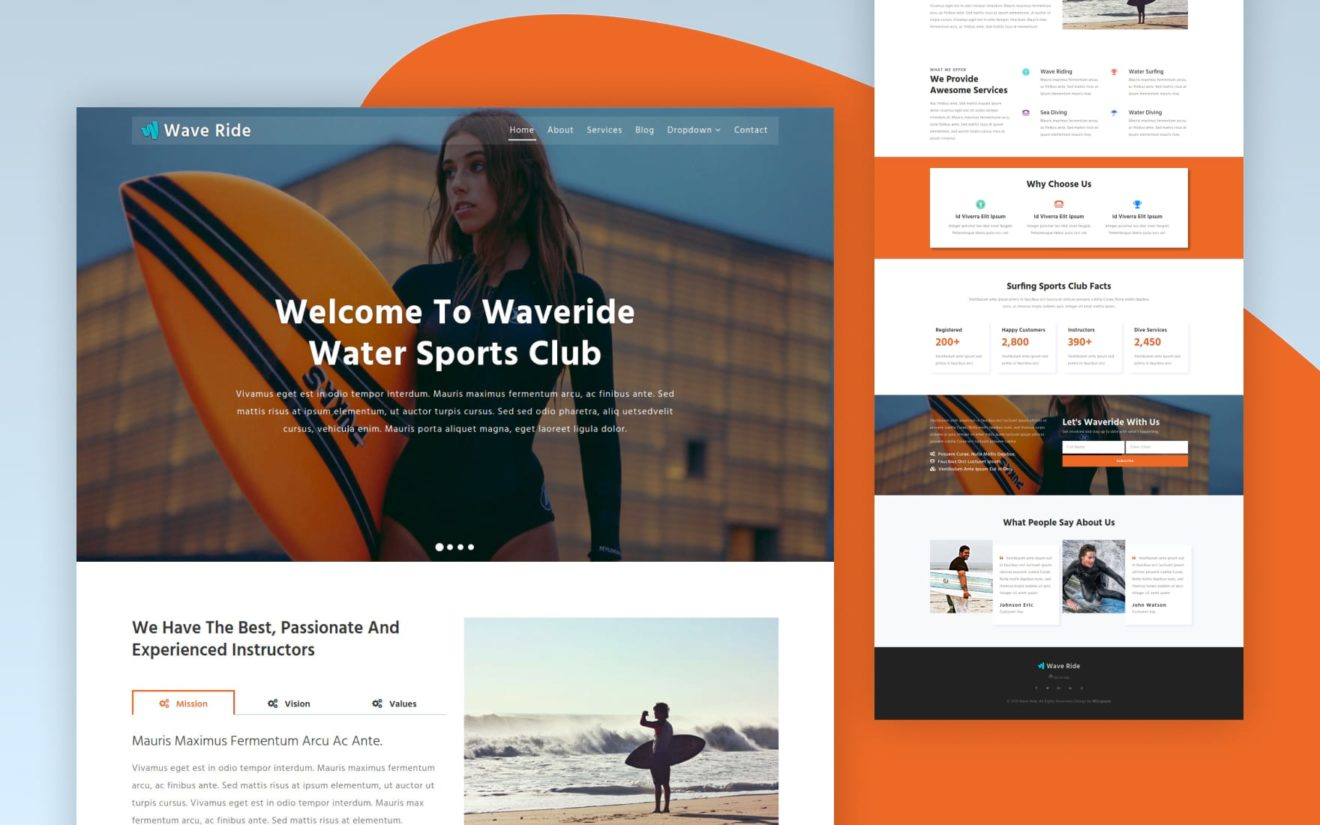 Wave Ride a Sports Category Bootstrap Responsive Web Template