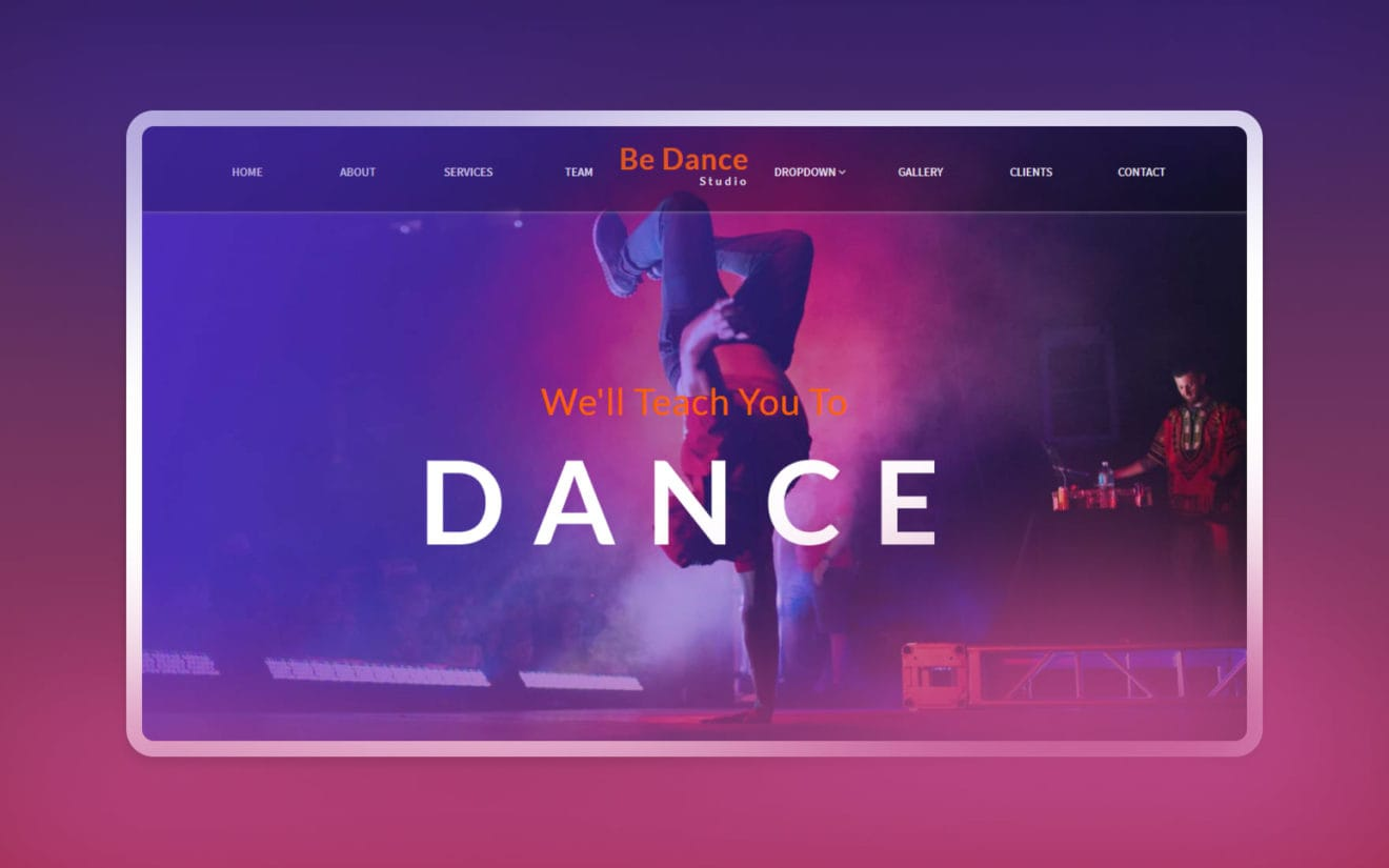 Be Dance an Entertainment Category Bootstrap Responsive Web Template