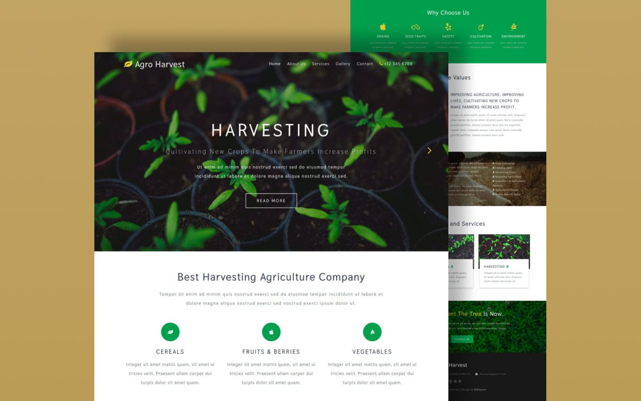 Agro Harvest – Agriculture Category Bootstrap Responsive Web Template