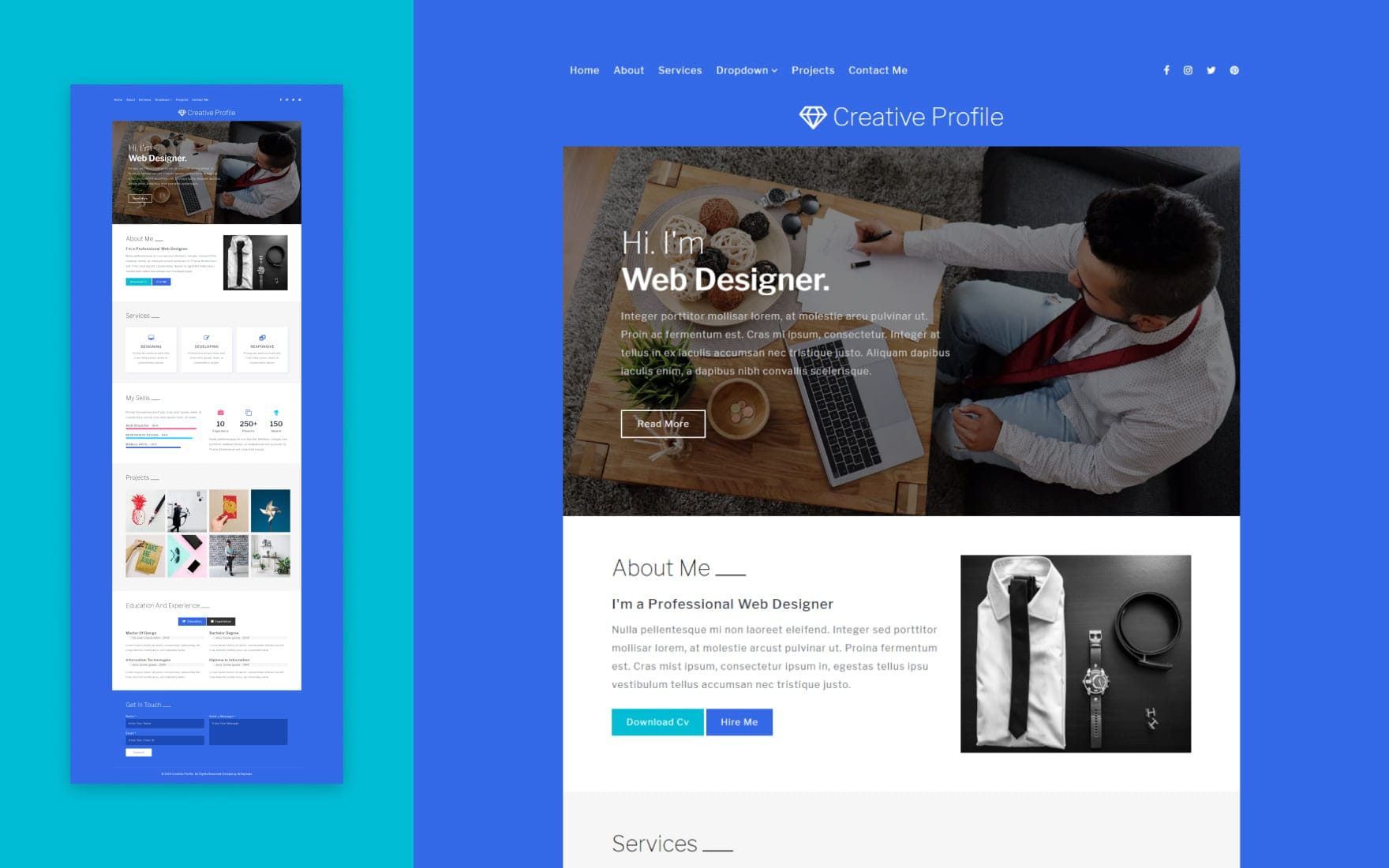 Creative Profile a Personal Category Bootstrap Responsive Web Template